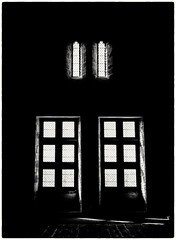 Light through windows (Andy J Newman) Tags: beynacetcazenac nouvelleaquitaine france fr olympus omd om blackandwhite silverefex castle silhouette window