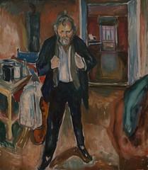 Edvard Munch, Sleepless Night: Self-Portrait in Inner Turmoil, 1920 (Sharon Mollerus) Tags: edvardmunchbetweentheclockandthebedexhibit sfmoma sanfranciscomuseumofmodernart sanfrancisco california unitedstates us cfptig17
