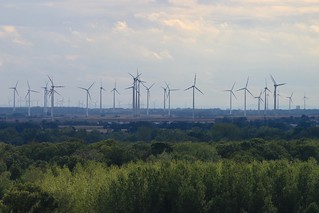 Austrian Wind Farm from Bratislava Castle [5848(1)]