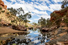 Clouded Water (grace.elwood) Tags: clouds bluesky outdoors australia ouback simpsonsgap alicesprings northernterritory trees water reflection river stillwater