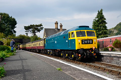 1566 (elr37418) Tags: llangollen railway blue overhaul wales uk nikon d7000 carrog heritage diesel locomotive 1566 station preserved yellow