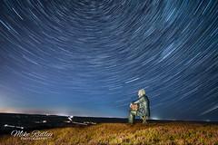 Star gazing (Mike Ridley.) Tags: theseatedman theseatedmansculpture seanhenry sculpture castleton castletonrigg yorkshire northyorkshire moors sonya7r2 sonyfe1635f4 startrails astrophotographer astrophotography