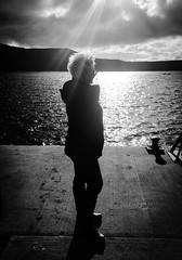 Blessed (doubleshotblog) Tags: silhouette sunrays iphone7 iphoneography blackandwhite godslight light lake australia tasmania hobart brunyisland blessed