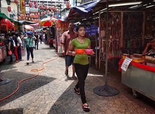 Street waitress .