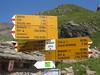 Trail Sign (Mike Dole) Tags: switzerland swissalps berneseoberland bachalpsee