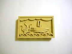 Wood carving (Cab ~) Tags: lego carving ship waves water wood abs challenge foitsop monochrome