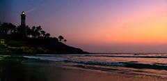 Colorful Dusk (Marcel Weichert) Tags: beach beam dusk india indianocean kerala kovalan lighthouse lighthousebeach mar ocean sea thiruvananthapuram trivandrum vizhinjamlighthouse