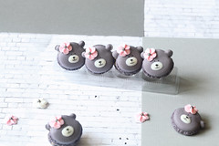 Teddy Bear Macarons with Bergamote & Black Sesame Filling (Мiuda) Tags: macaron macarons teddy bear teddybear french paris sesame blacksesame filling bergamote tea grey pretty dreamy sweet sweets cookies cookie sandwich confectionery pastry bake baking bakery baked patisserie patissier food dessert delicious sugar foodphotography foodphoto pink flower icing powdered almond pastel recipe foodblog foodblogger blog blogger canon