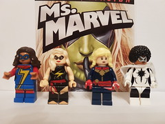 Many Ms Marvels (nathanbeer) Tags: captainmarvel msmarvel lego minifigs marvel