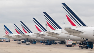 CDG - Air France Tails line up