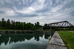 Cold Morning (Kevin Tataryn) Tags: train bridge railroad cn canadian national canal coteaux history water nikon d500 tokina 1116