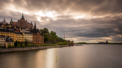 Clouds over Stockholm (Jens Haggren) Tags: clouds light water reflections houses street city cityscape söder södermalm södermälarstrand riddarfjärden stockholm sweden longexposure le