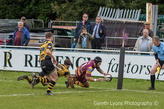 Jamie Harrison completes the scoring for Sedgley with the Tigers final try-8362