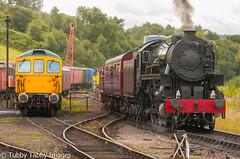 20170806-_CNH6848.jpg (bigbarney130) Tags: vintage preserved 33102 usatc cvr s160 staffordshire bagpipes train preservedsteam heritage 5197 churnetvalleyrailway steam nikond300 cheddleton