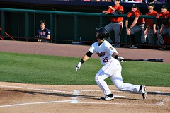 FLY BALL TO RIGHT (MIKECNY) Tags: hit hitter basehit tricityvalleycats astros nypennleague baseball minorleague aberdeenironbirds orioles