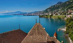lake Geneve (werner boehm *) Tags: wernerboehm seelake waadt kantonwaadt genfersee lakegeneve montreux ufer banks berge mountains