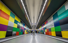 waiting for the train (hjuengst) Tags: munich subway underground colourful symmetry georgbrauchlering light u1