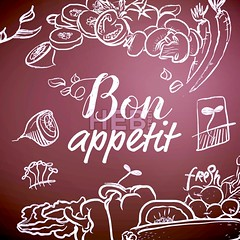 Bon Appetit Chalk Sketch on Blackboard (Hebstreits) Tags: appetit appetite background banner blackboard bon breakfast broccoli chalk chalkboard collection design dinner dish drawn engraved food fresh grill hand healthy illustration kitchen lettering lunch meal menu nature onion pizza plate poster restaurant salmon served sketch steak text tomato vector vegetable vegetarian vintage white