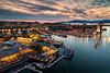 Granville Island (Andrew G Robertson) Tags: vancouver sunset granville island bridge cityscape skyline canada british columbia