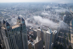 Chicago: Above the Clouds (romanboed) Tags: leica m 240 summicron 28 usa illinois chicago city urban summer clouds vapor cityscape downtown skyscrapers highrise open window 900 north michigan avenue architecture travel
