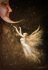 MoonDance (clabudak) Tags: space moon dance angel wings flying floating lovely fantasy imagination