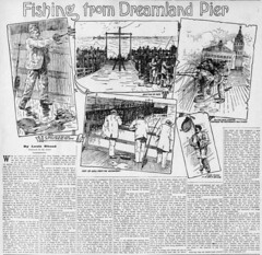 Louis Rhead Fishing From Dreamland Pier (Antique Lures) Tags: artthroughwords finandflame fishingonapier fisning history louisrhead louisrheadfishingfromdreamlandpier oceanfishing surfcasting