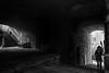 The girl in the alley (PascallacsaP) Tags: velva liguria genova italy italia genoa street underground shadow light dark door stairs little girl bench arches vault walls old village ancient daylight hidden medieval alley