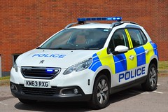KM63 RXG (S11 AUN) Tags: northamptonshire northants police peugeot 2008 4x4 crossover fleet spare panda car incident response vehicle irv 999 emergency km63rxg