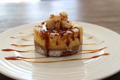 Mascarpone and macadamia cheesecake