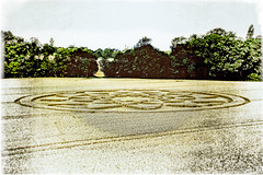 Hannington Crop Circle, Wiltshire ( Creative ) (Peter Greenway) Tags: ancientastronoughttheory wiltshire field ancientaliens flickr hanningtoncropcircle farmersfield cropcircle wheat hannington