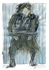 Wolfram Zimmer: Tethered - Angebunden (ein_quadratmeter) Tags: wolframzimmer bilder kunst malerei gemälde wolfram zimmer konzeptkunst objektkunst mein freiburg burg birkenhof kirchzarten ausstellung ausstellungen peinture exhibition exhibitions zeichnung tusche besen ink broom besom