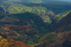 Zoomed out view of the Choppa (Garden State Hiker) Tags: kauai colorful waimeacanyon canyon mountains hillside hawaii nature landscape
