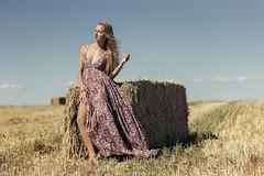 Monica - 1/6 (Pogdorica) Tags: modelo sesion retrato campo monica paja bala trigal chica rubia sexy
