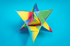 Sky Star Kusudama (30 units, octahedron) (Brian Ritchie) Tags: kusudama mariasinayskaya skystar modular origami