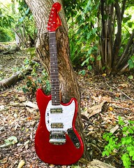 Taking a Rest (Pennan_Brae) Tags: fenderguitars fenderguitar sixstring musicphotography electricguitar guitar fendermustang fender