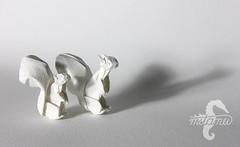 Brothers (mitanei) Tags: origami squirrel mitanei keepfoldingon eichhörnchen paperart papierkunst sculpture animals brothers wetfolding