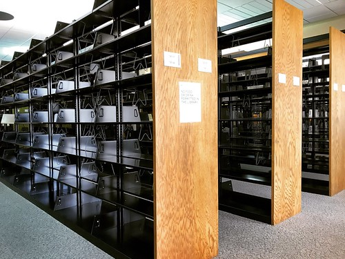Empty Shelves on the 3rd Floor of Faulk Central Library