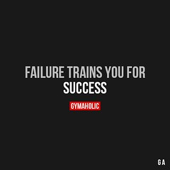 Success Quotes : Failure Trains You For Success. More motivation: www.gymaholic.co… (omgquotes.com) Tags: quotes life love inspirational motivational