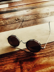 My Little Vacation (moaan) Tags: kobe hyogo japan jp glasses sunglasses woodentable cafe takearest relaxed cozy studiod texture snapseed iphone iphone7 iphonography