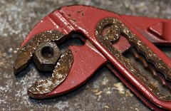 Rust... (u. Scheele) Tags: makro macro macromondays mm hmm indoor canon closeshot canoneos80d closeup eos80d eos rust red tamron digital textur schärfentiefe object tool rusty waterpumppliers macromandays