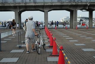 Summer Day Afternoon at Yokohama Terminal Bridge