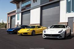 Ronnie In The Middle (Hunter J. G. Frim Photography) Tags: supercar colorado ferrari f430 v8 italian black yellow giallo nero coupe ferrarif430 hre f12 berlinetta v12 tdf blue white bianco blu tour de france adv1 ferrarif12 ferrarif12berlinetta blutourdefrance tdfblue