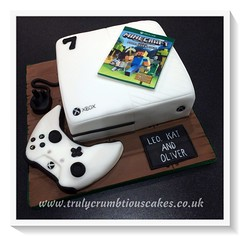 Xbox One Cake Trulycrumbtious Tags Birthday Edible Controller Sugar Game