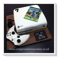 Xbox One Cake Trulycrumbtious Tags Birthday Edible Controller Sugar Game