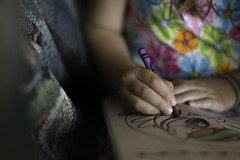 ::Create:: (nsioss) Tags: oneperson onechild noface create color indoor crayon coloring child