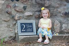 Ellie 2 Year Session (sarahkathleendavis) Tags: girl august 2017 outdoors outside child smile chalkboard