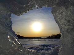 * Winter Stargate! * (crush777roxx) Tags: crush777roxx crush 20170213 2017 february 13th compact camera sony hx90v sweden stockholm winter stargate sunrise ice tunnel snow frozen lake sun glow sea inlet clouds blue sky nature winterstargate icestructure winterglow icetunnel frozensea wintersunrise winterscene swedenwinter eclipse stockholmsweden compactcamera sonyhx90v