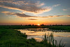 "Sunset Over Dutch ""Polder"" Landscape (mesocyclone70) Tags: sunset sunrise canal canals holland dutch netherlands mirror reflection reflections sky cloud clouds cloudscape landscape landscapes polder green wide open view scene scenic scenery scenics summer 2017 august evening dusk grass grassland altocumulus colour color colors colours colorfull colourfull ngc water"