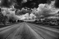 Awaiting the Storm (kendoman26) Tags: storm stormclouds sky clouds beforethestorm morrisillinois monochrome blackandwhite nikhdrefexpro2 niksilverefexpro2 hdr nikon nikond7100 tokinaatx1228prodx tokina tokina1228