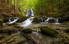 Josefstal (Forester__) Tags: falls waterfall water river stream creek cascades forest trees green brown red white rocks reflection motion blur